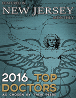 2016 Top Doctors Plaque New Jersey Monthly